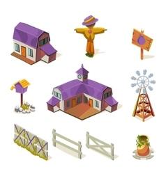 Farm Elements Set vector