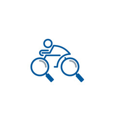 find bike logo icon design vector image
