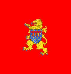 Flag of arras in pas-de-calais of hauts-de-france vector
