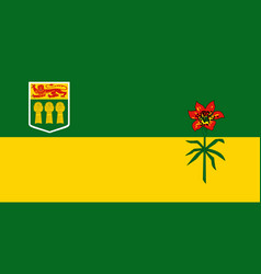 Flag saskatchewan province canada saskatoon vector