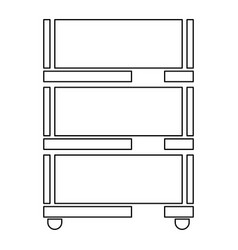 floor rack for paper icon vector image