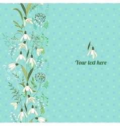 Floral spring template with cute bunches of vector image vector image