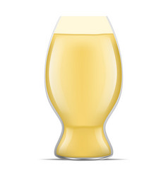 fresh glass of beer icon realistic style vector image