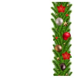 green christmas garland vector image