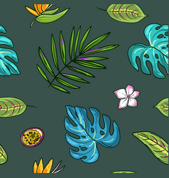 hand drawn beautiful seamless pattern world vector image