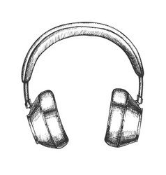 hipster accessory wireless headphones ink vector image