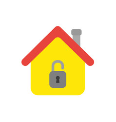 icon concept of house with opened padlock vector image