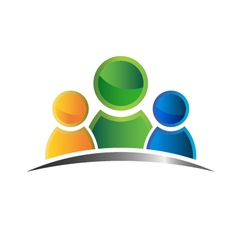 Icon people family vector