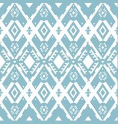 ikat ornament tribal pattern vector image