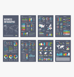 Infographic a4 brochure elements vector