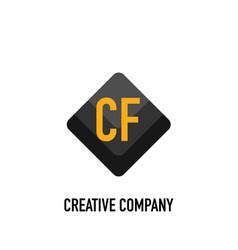Initial letter cf black creative design logo in vector