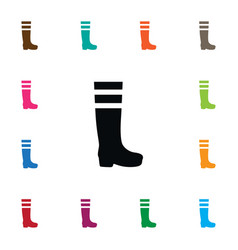 Isolated footwear icon gumboots element vector