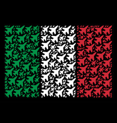 italy flag collage of jet fighter items vector image