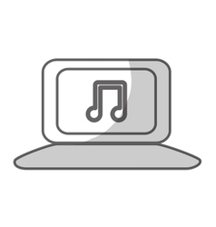 laptop with music icon image vector image