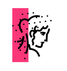 logo female head linear icon woman flat vector image