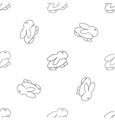 monochrome seamless rabbit pattern for easter vector image