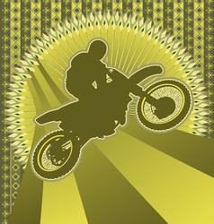 Motorcyclist vintage design vector