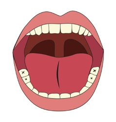 mouth vector image