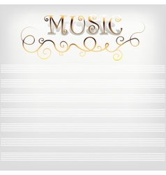 Music background with notes line vector