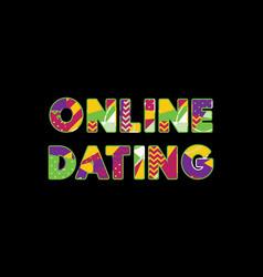 Online dating concept word art vector