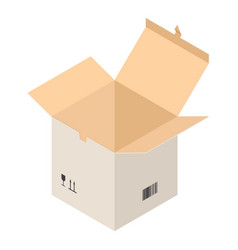 open carton box icon isometric style vector image