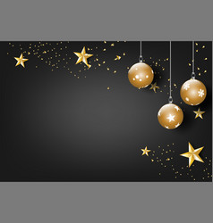 paper art of merry christmas and happy new year vector image