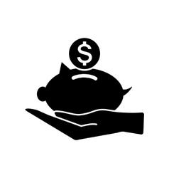 Piggy money bank icon vector