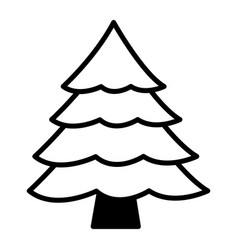 pine tree on white background vector image