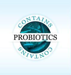 Probiotics emblem vector