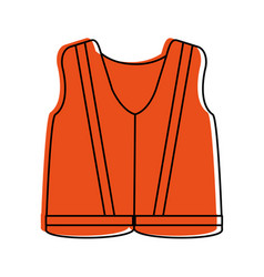 Reflective vest industrial safety icon image vector