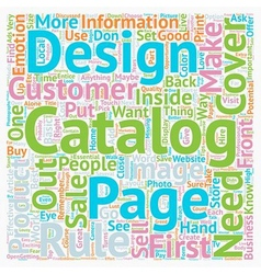 Rules On Good Catalog Design text background vector
