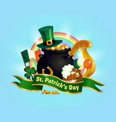 saint patricks day composition vector image