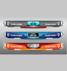 Scoreboard soccer elements design vector