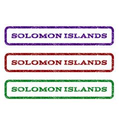 Solomon islands watermark stamp vector