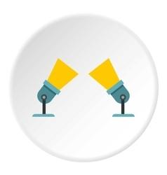 Spotlights icon flat style vector