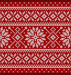 Sweater fairisle design vector