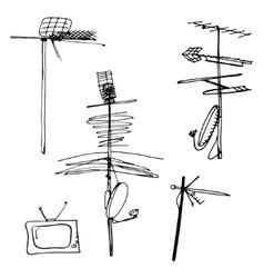 Television aerials vector