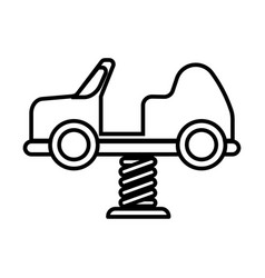 Thin line car spring toys icon vector