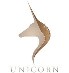 unicorn emblem vector image