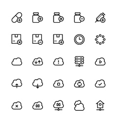 User Interface Colored Line Icons 55 vector