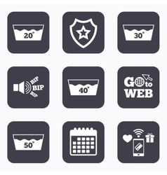 Wash icons Machine washable at forty degrees vector image