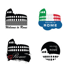 Colosseum rome sign vector