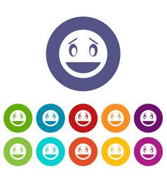 confused emoticon set icons vector image vector image
