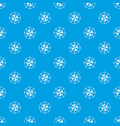 diamond gemstone pattern seamless blue vector image vector image