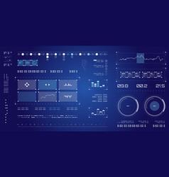 futuristic user interface spaceship screen vector image vector image