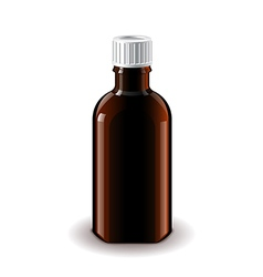 Medical dark glass bottle isolated vector image vector image