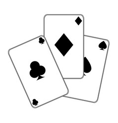 Poker cards isolated icon vector