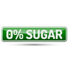 0 sugar - abstract beautiful button with text vector