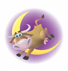cow jumped over the moon vector image vector image