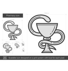 Pharmacy line icon vector image